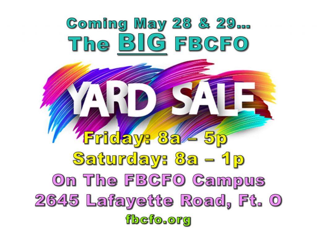 Annual Yard Sale